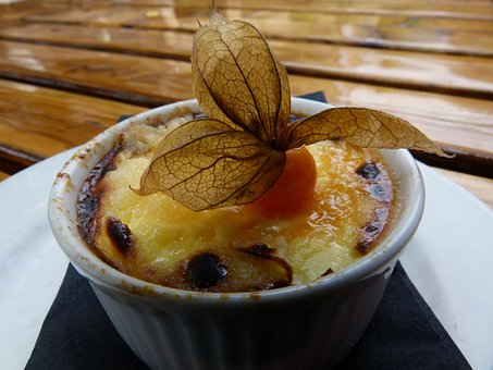 French, Creme Brulee, Food, Dessert, Cake, Fruit, Sweet