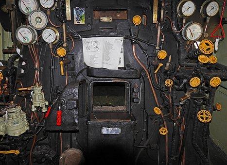 Steam Locomotive, Führerstand, Left Control, Sncf