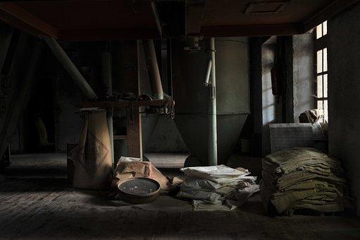 Abandoned, Chutes, Dusty, Furniture, Hessian Bags, Home