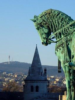 Budapest, Buda, Castle Area, St Stephen's, King, Horse