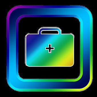 Icon, First Aid, Luggage, Emergency, Medical, Symbols