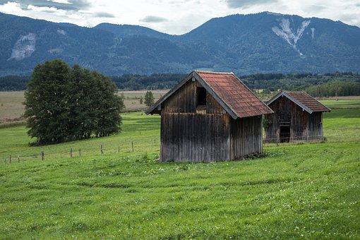 Alm, Hut, Scale, Log Cabin, Meadow, Mountains, Alpine