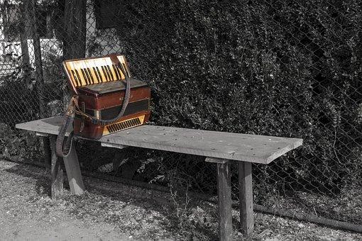Accordion, Alone, Music, Instrument, Musical, Key
