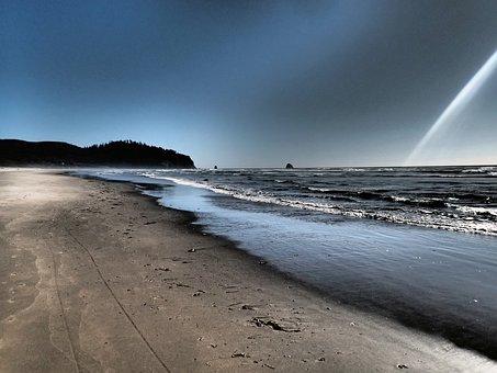 Netarts Oregon, Beach, Pacific Ocean, Northwest, Ocean