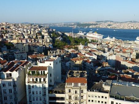 Istanbul, Turkey, Bosphorus, Sea, Outlook, View