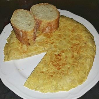 Tortilla, Potato, Potato Omelette, Spanish, Kitchen