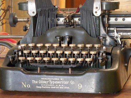 Keys, Typewriter, Old, Vintage, Antique, Retro, Type