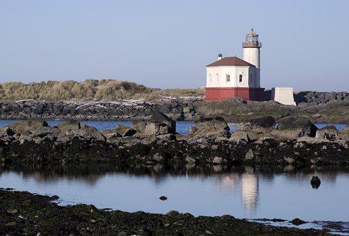 Lighthouse, Oregon, Coast, Pacific, Ocean, Scenic