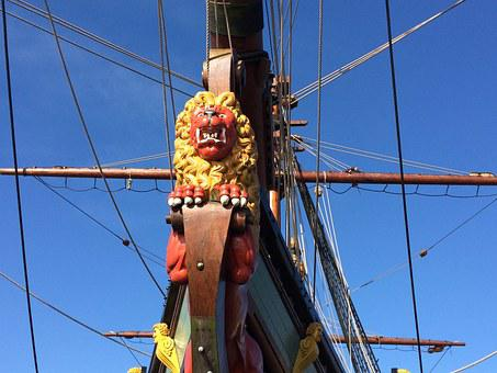 Figurehead, Ship, Voc, Sailing Ship, The Batavia