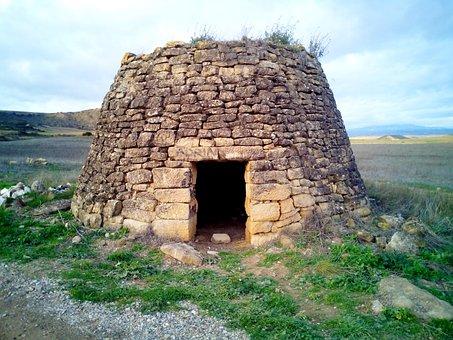 Guardaviñas, Refuge, Stones, Construction, Old, Path