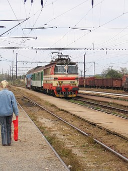 Railway, Transport, Arrival, Electric Locomotive, Train
