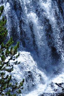 Waterfall, Yellowstone, National, Park, Water, Wyoming