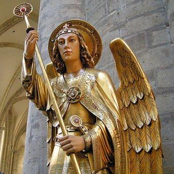 Church, Angel, Michel, Brussels, Belgium, Gudula