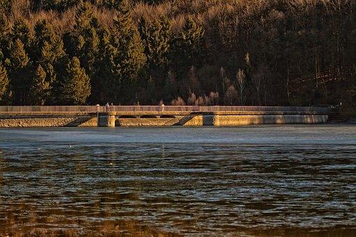 Dam, Reservoir, Water, Lake, Artificial, Building