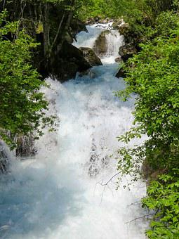 Nature, Water, Wild, River, Waterfall, Bach, Bubble