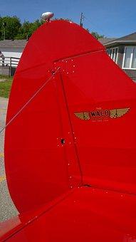 Waco, Aircraft, Rudder, Biplane