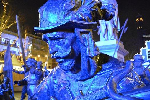 Amsterdam, Vigil, Rembrandt, Sculpture, Blue