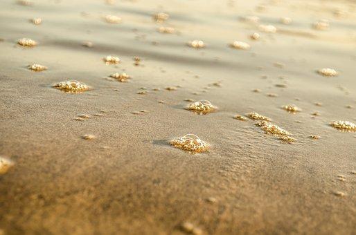 Beach, Boiling, Bubble, Circle, Close-up, Coastline