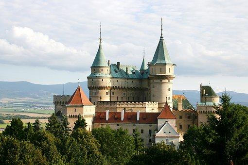 Bojnice, Slovakia, Castle, Blue Sky, Summer, View