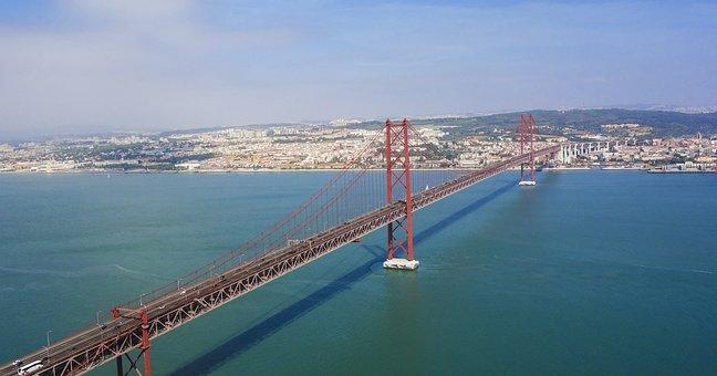 Lisbon, Bridge, Ponte 25 De Abril, Bridge Of 25 April