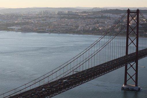 Bridge, April 25, Lisbon, Bridge April 25, Water