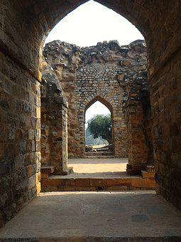 Building, Archaeological Site, India, Rock, The Bricks