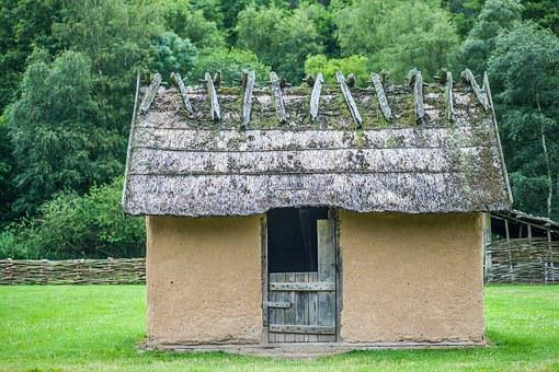 Slave House, Clay, Thatched Roofs, Wood, Century