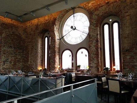 Jelgava, Latvia, Clock, Old Times, Restaurant, Cafe