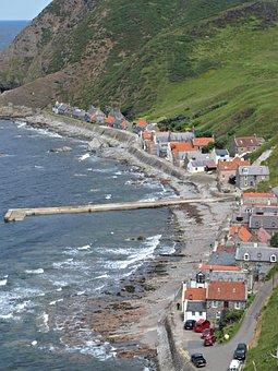 Crovie, Aberdeenshire, Banffshire, Coastline, Britain