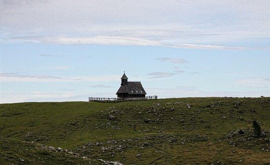 Church, Cross, Chapel, Hills, Countryside, Farm, Field