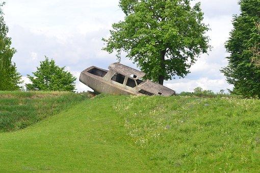 Sculpture, Sculpture Park, Concrete Boat, Graz, Salazar
