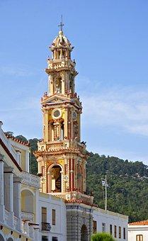 Bell Tower, Archangel Michael, Monastery, Greek