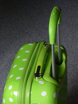 Wheeled Bags, Luggage, Roll, Wheels, Green, Handle