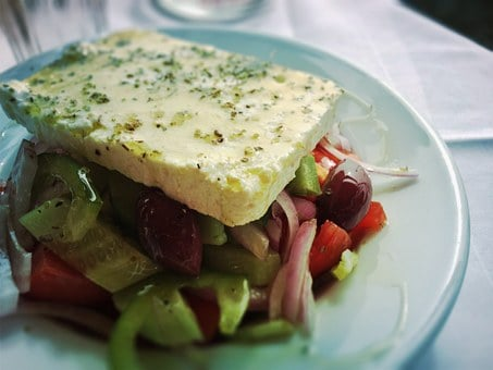 Greek Salad, Greek, Salad, Feta, Food, Healthy, Diet