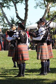 Bagpipes, Scottish, Scot, Kilt, Scotland, Bagpipers