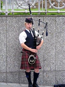 Scotland, Piper, Bagpipes, Kilt, Edinburgh, Music