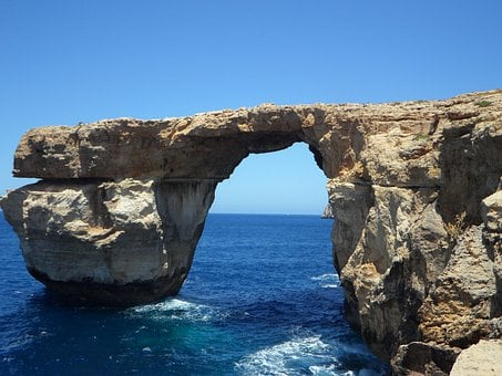 Azur Window, Of Course, Sea, Mediterranean, Rock