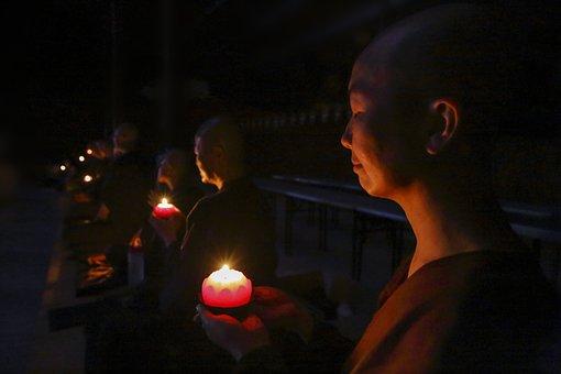 Nuns With Candles, Making Wish, Making Aspiration