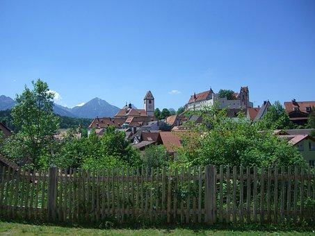 Füssen, Old Town, Fenced, Church, St Mang, High Castle