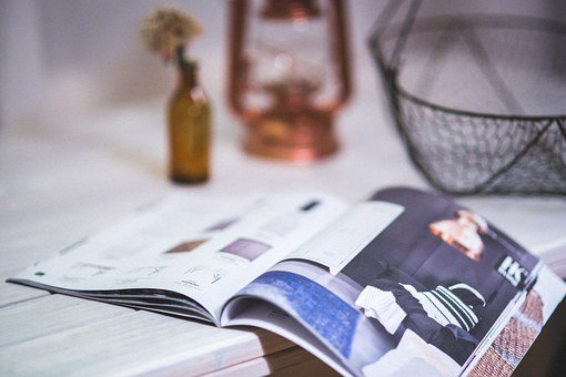 Magazine, Newspaper, Open, Opened, Detail, Reading