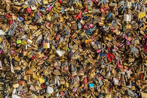 Love, Locks, Locked, Romantic, Bridge, Fence, Padlock