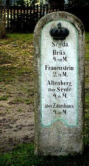 Distance Column, Milestone, Postmeilensäule Saxon