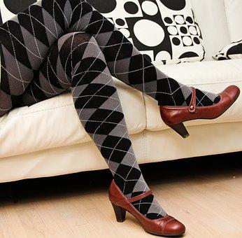 Legs, Red Shoes, Leggings, Long Socks