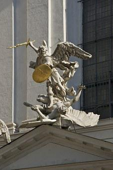 Archangel, Michael, Vienna, Church, Statue, Sculpture