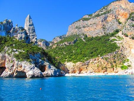 Sardinia, Goloritzè, Pinnacle, Sea, Rock, Climb