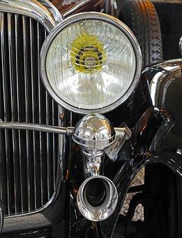 Museum, Oldtimer, Maybach, Spotlight, Horn, Cooler