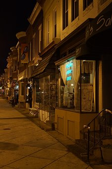Storefront, Shops, Night Time, Evening, Stores