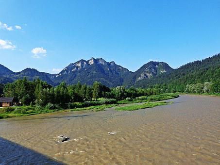 Mountains, Landscape, River, Panorama, Nature, View