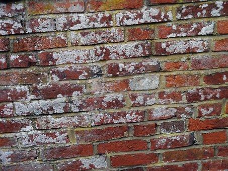 Brickwall, Bricks, Brickwork, Wall, Paint, Aged