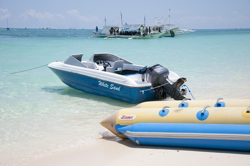 Boracay, White Sand, Beach, Costa, Craft, Sea, Arenas